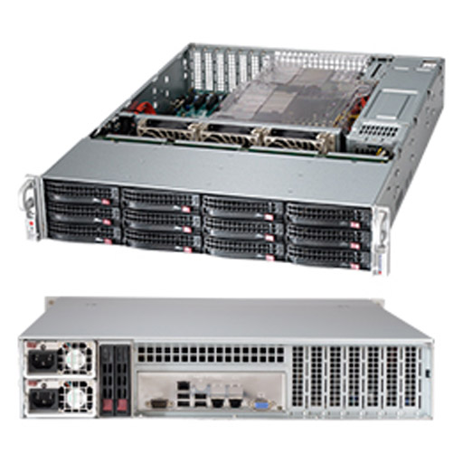 "Supermicro 2U 12x 3.5"" Bays SuperChassis 826BAC4-R1K23LPB"