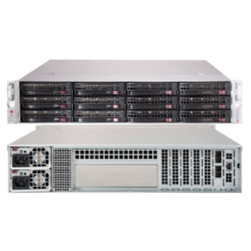 "Supermicro 2U 12x 3.5"" Bays SuperChassis 826BE1C-R741JBOD"