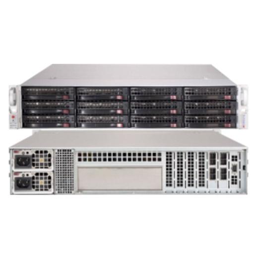 2U SC826B 12 Drive JBOD W/Dual Expander Redundant 740W