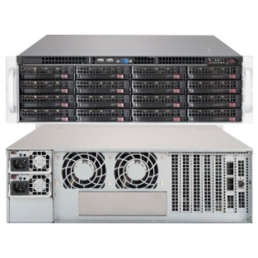 "Supermicro 3U 16x 3.5"" Bays SuperChassis 836BE1C-R1K03JBOD"