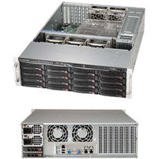 "Supermicro 3U 16x 3.5"" Bays SuperChassis 836BE1C-R741B"