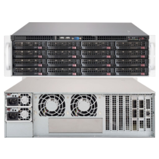 "Supermicro 3U 16x 3.5"" Bays SuperChassis 836BE2C-R1K03JBOD"