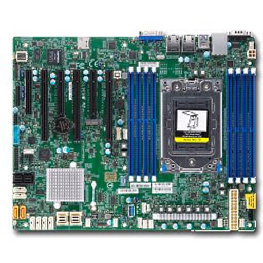 Supermicro Mainboard ATX 1x Socket SP3, 8x DDR4 max 1TB, 6x PCIe, IPMI, 2x GbE, 16x SATA, 2x NVMe, 1x M.2