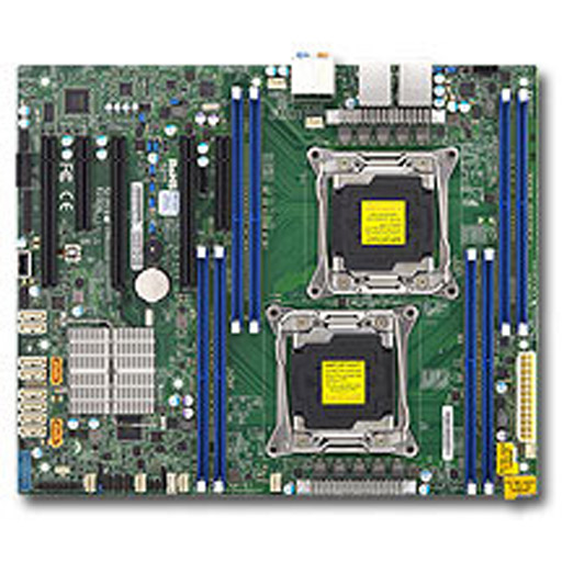 Supermicro Mainboard ATX 2x LGA2011-3 8x DDR4 max 1TB, 5x PCIe, 2x GbE, 10x SATA