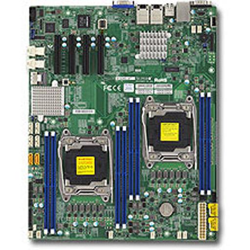 Supermicro Mainboard E-ATX 2x LGA2011-3, 8x DDR4 max 1TB, 4x PCIe, IPMI, 2x 10GbE, 10x SATA