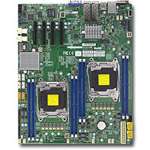 Supermicro Mainboard E-ATX 2x LGA2011-3, 8x DDR4 max 1TB, 4x PCIe, IPMI, 2x 10GbE SFP+, 10x SATA
