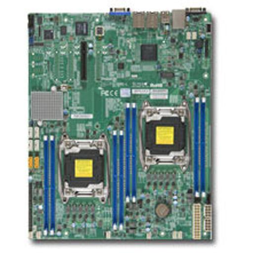 Supermicro Mainboard E-ATX 2x LGA2011-3, 8x DDR4 max 1TB, 1x PCIe, IPMI, 2x GbE, 6x SATA