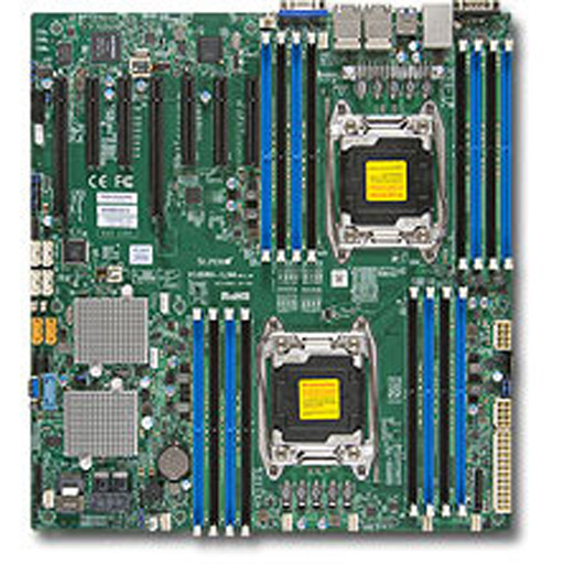 Supermicro Mainboard E-ATX 2x LGA2011-3, 16x DDR4 max 2TB, 7x PCIe, IPMI, 2x GbE, 10x SATA