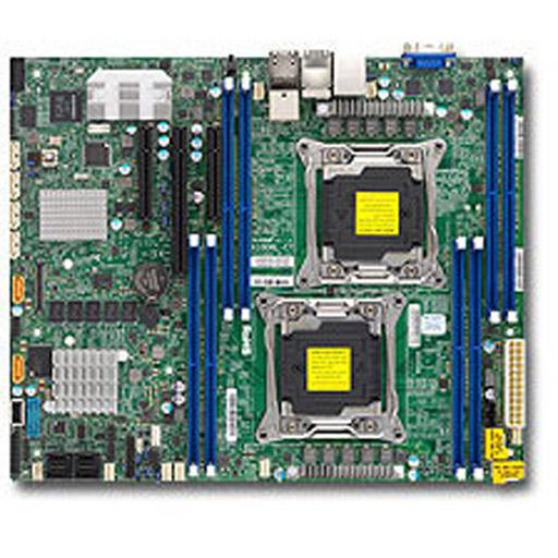 Supermicro Mainboard ATX 2x LGA2011-3, 8x DDR4 max 1TB, 3x PCIe, IPMI, 2x Gbe, 2x 10GbE, 6x SATA, 8x SAS3