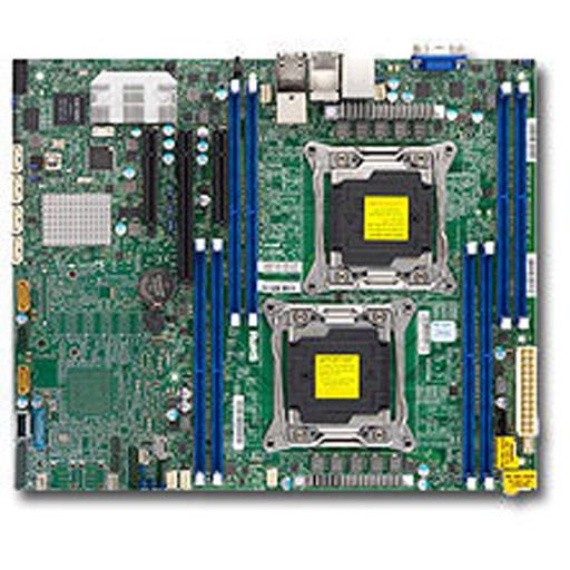 Supermicro Mainboard ATX 2x LGA2011-3, 8x DDR4 max 1TB, 3x PCIe, IPMI, 2x GbE, 2x 10GbE, 6x SATA