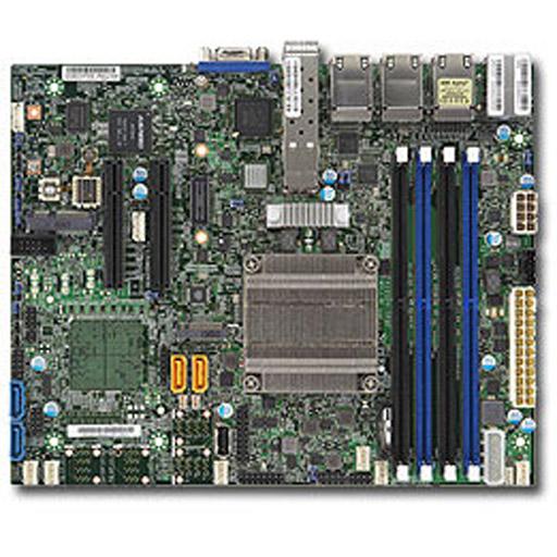 Supermicro Mainboard Flex-ATX Intel Pentium, 4x DDR4 max 128GB, 2x PCIe, IPMI, 6x GbE, 2x 10GbE SFP+, 4x SATA, 1x M.2