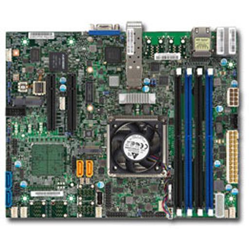 Supermicro Mainboard Flex-ATX Intel XEON, 4x DDR4 max 128GB, 2x PCIe, IPMI, 2x GbE, 2x 10GbE SFP+, 4x SATA, 1x M.2