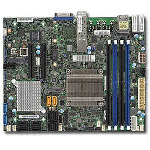 Supermicro Mainboard Flex-ATX Intel XEON, 4x DDR4 max 128GB, 2x PCIe, IPMI, 2x GbE, 2x 10GbE SFP+, 4x SATA, 4x SAS2, 1x M.2
