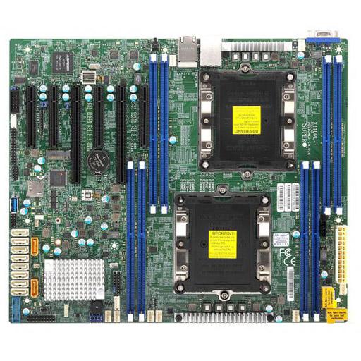 Supermicro Mainboard ATX 2x LGA3647, 8x DDR4 max 1TB, 6x PCIe, IPMI, 2x GbE, 10x SATA, 1x M.2