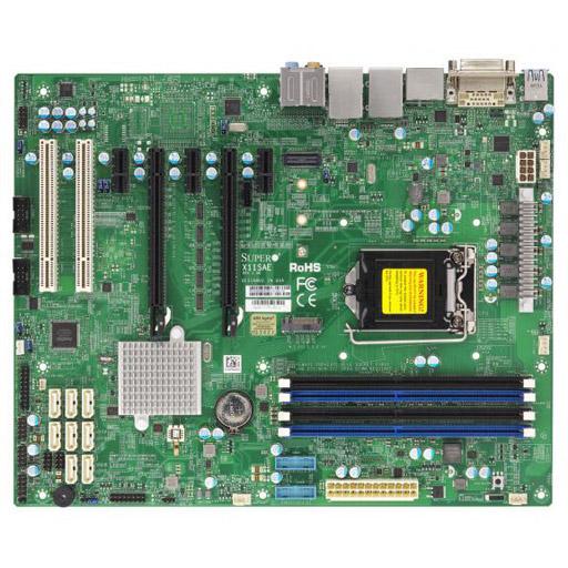 Supermicro Mainboard ATX 1x LGA1151, 4x DDR4 max 64GB, 5x PCIe, 2x PCI, 2x GbE, 8x SATA