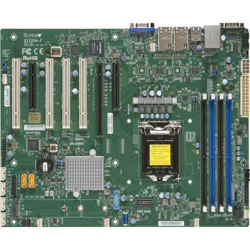 Supermicro Mainboard ATX 1x LGA1151, 4x DDR4 max 64GB, 3x PCIe, 4x PCI, IPMI, 2x GbE, 6x SATA