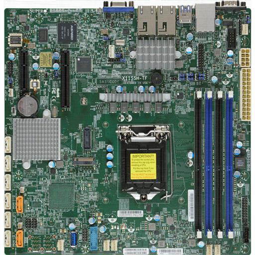 Supermicro Mainboard Micro-ATX 1x LGA1151, 4x DDR4 max 64GB, 2x PCIe, IPMI, 2x 10GbE, 8x SATA