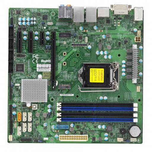 Supermicro Mainboard Micro-ATX 1X LGA1151, 2x DDR4 max 32GB, 3x PCIe, 1x GbE, 4x SATA