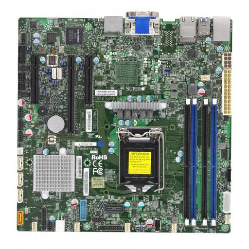 Supermicro Mainboard Micro-ATX 1x LGA1151, 4x DDR4 max 64GB, 3x PCIe, IPMI, 2x GbE, 4x SATA