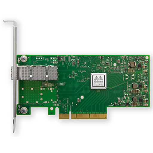 Mellanox ConnectX-4 Lx EN network interface card, 10GbE single-port SFP28, PCIe3.0 x8, tall bracket