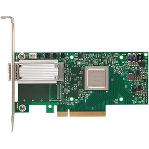 Mellanox ConnectX-4 EN network interface card, 50GbE single-port QSFP28, PCIe3.0 x8, tall bracket