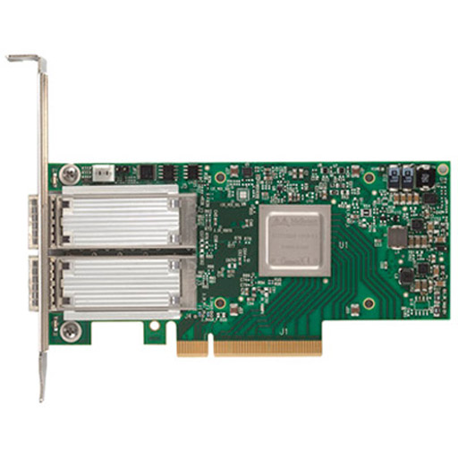 Mellanox ConnectX-4 EN network interface card, 50GbE dual-port QSFP28, PCIe3.0 x8, tall bracket