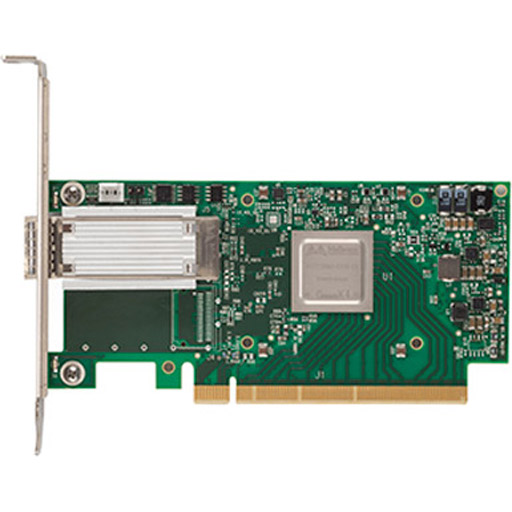 Mellanox ConnectX-4 EN network interface card, 50GbE single-port QSFP28, PCIe3.0 x16, tall bracket