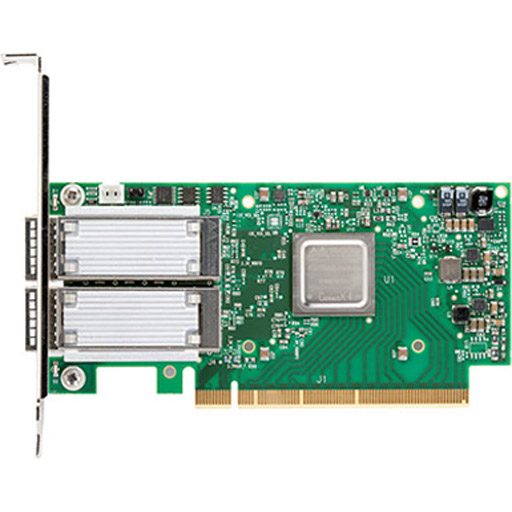 Mellanox ConnectX-4 EN network interface card, 50GbE dual-port QSFP28, PCIe3.0 x16, tall bracket