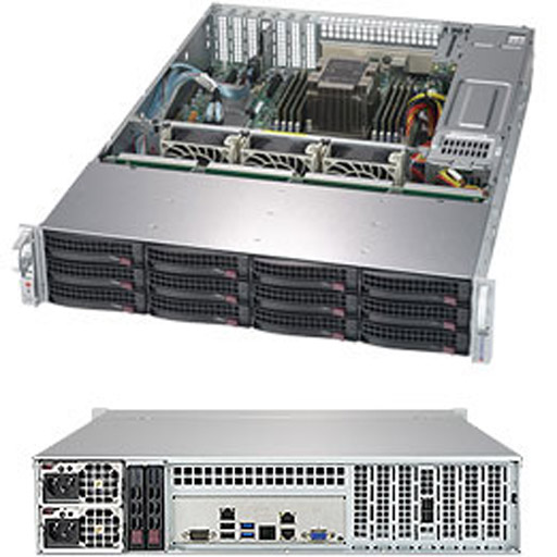 "Supermicro 2U 12x 3.5"" Bays SuperStorage Barebone Server 5029P-E1CTR12L"