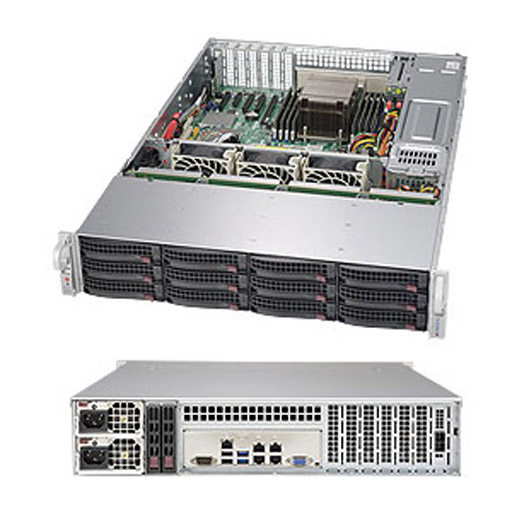 "Supermicro 2U 12x 3.5"" 6TB SATA HDDs Ceph OSD SuperStorage Server Node 6028R-OSD072 (Complete System Only)"