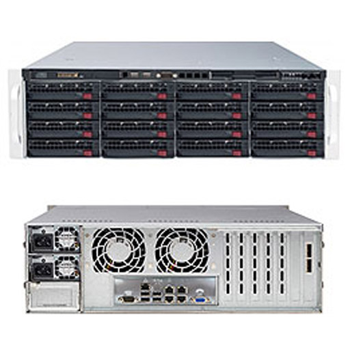 "Supermicro 3U 16x 3.5"" Bays SuperStorage Barebone Server 6038R-E1CR16N"