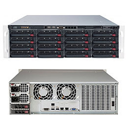 "Supermicro 3U 16x 3.5"" Bays SuperStorage Barebone Server 6039P-E1CR16H"