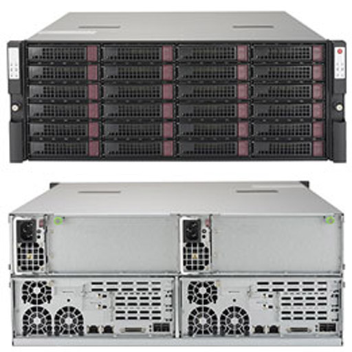 "Supermicro 4U Dual Node 24x 3.5"" Bays SuperStorage 6048R-DE2CR24L (Complete System Only)"