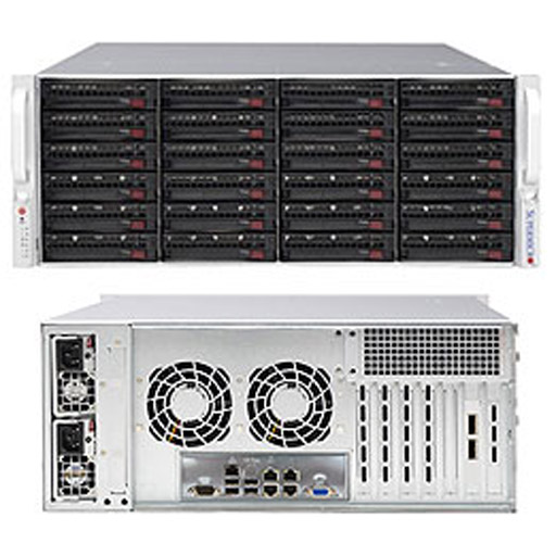 "Supermicro 4U 24x 3.5"" Bays SuperStorage Barebone Server 6048R-E1CR24N"