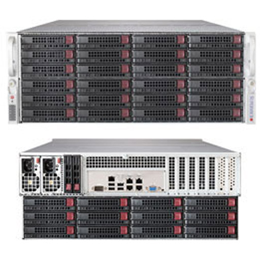 "Supermicro 4U 60x 3.5"" 6TB SATA HDDs 12x 2.5"" 400GB SSDs Ceph OSD SuperStorage Server Node 6048R-OSD360P (Complete System Only)"