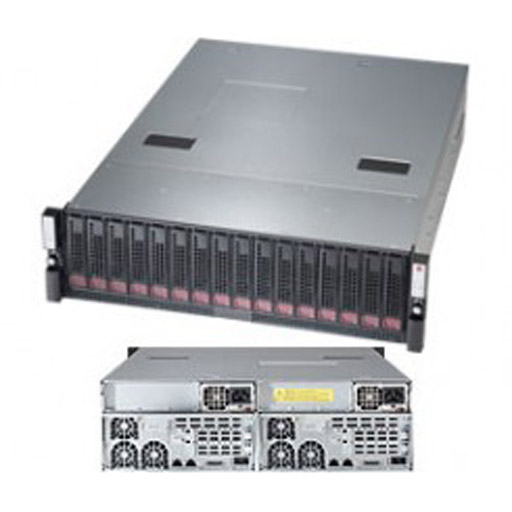 "Supermicro 2U 24x 2.5"" Bays Super Storage Bridge Bay JBOD 927R-E2JB"