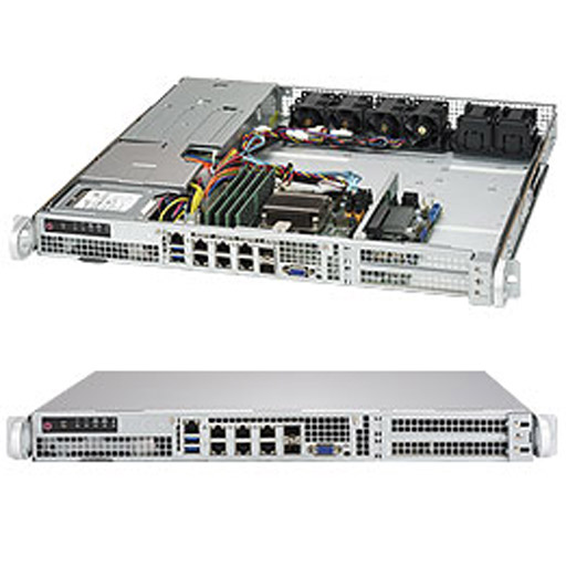 "Supermicro 1U 4x 2.5"" Fixed Drive Bays SuperServer Barebone 1018D-FRN8T"