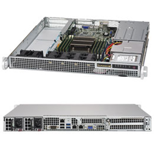 "Supermicro 1U 2x 2.5"" Fixed Drive Bays SuperServer Barebone 1018R-WR"