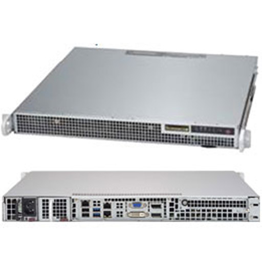 "Supermicro 1U 2x 2.5"" Fixed Drive Bays SuperServer Barebone 1019S-M2"