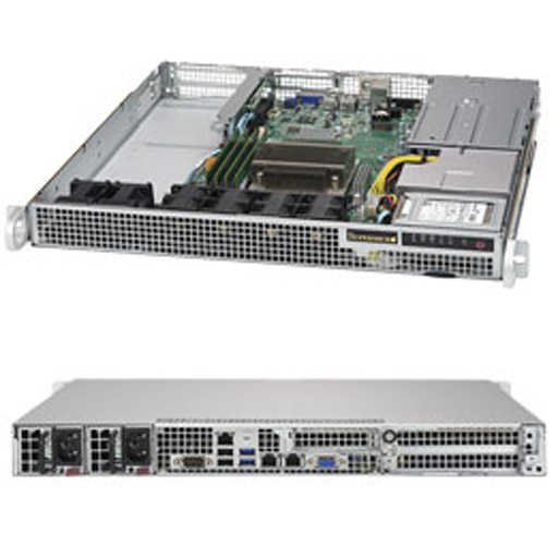 "Supermicro 1U 2x 2.5"" Fixed Drive Bays SuperServer Barebone 1019S-WR"