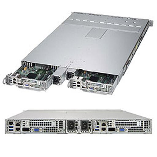 Super Micro 1U Dual Node 4x 2.5 Bays SuperServer Barebone 1028TP-DTR