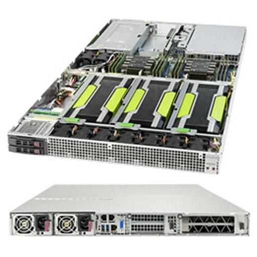 "Supermicro 1U 2x 2.5"" Bays SuperServer 4x GPUs Barebone 1029GQ-TRT"