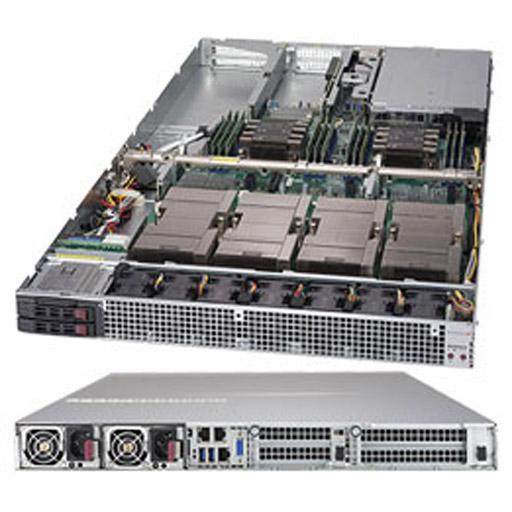"Supermicro 1U 2x 2.5"" Bays SuperServer 4x GPUs Barebone 1029GQ-TXRT"