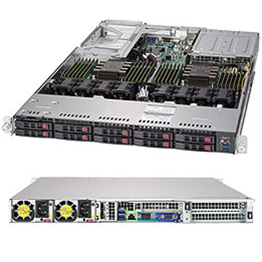 """Supermicro 1U 10x 2.5"""" Bays SuperServer 1029U-TR25M (Complete System Only)"""