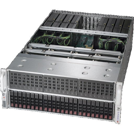 "Super Micro 4U 24x 2.5"" Bays SuperServer 8x GPUs Barebone 4029GP-TRT"
