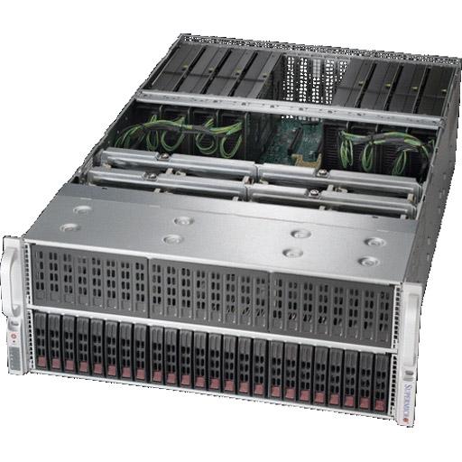 "Super Micro 4U 24x 2.5"" Bays SuperServer 8x GPUs Barebone 4029GP-TRT2"
