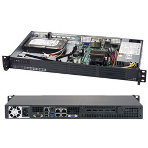 "Supermicro 1U 2x 3.5"" Fixed Drive Bays SuperServer 5018A-LTN4"