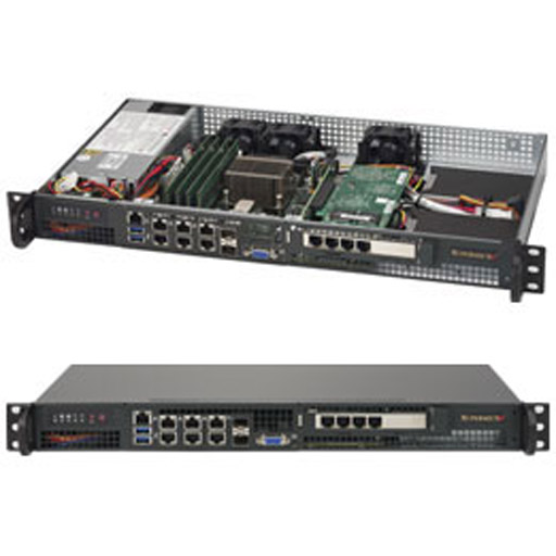 "Supermicro 1U 4x 2.5"" Fixed Drive Bays SuperServer 5018D-FN8T"