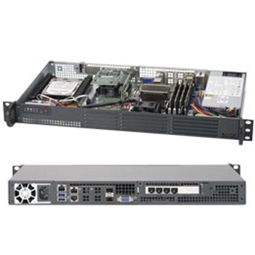 "Supermicro 1U 4x 2.5"" Fixed Drive Bays SuperServer 5018D-LN4T"