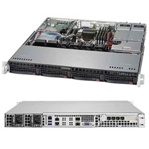"Supermicro 1U 4x 3.5"" Bays SuperServer Barebone 5018D-MHR7N4P"